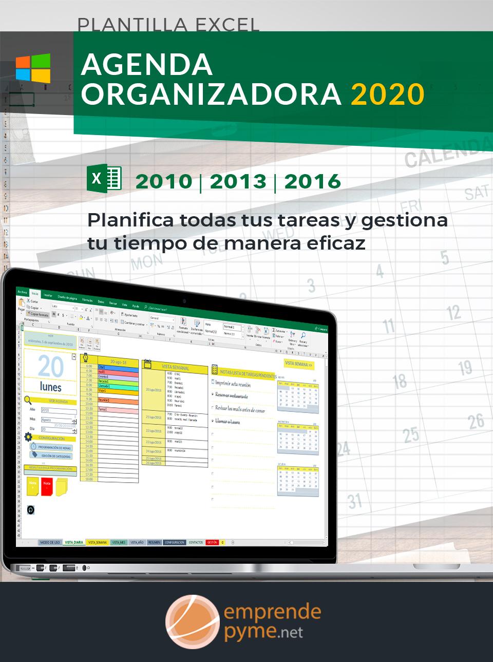 Agenda Excel para la planificación de tareas