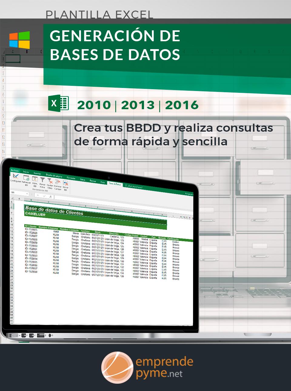 Plantilla para Base de Datos