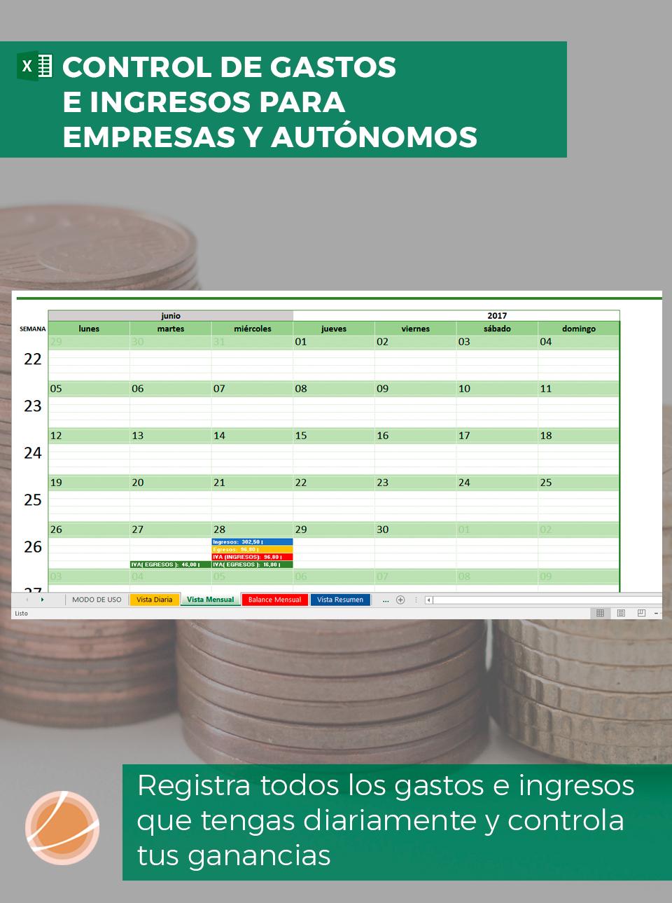 Controla los gastos e ingresos