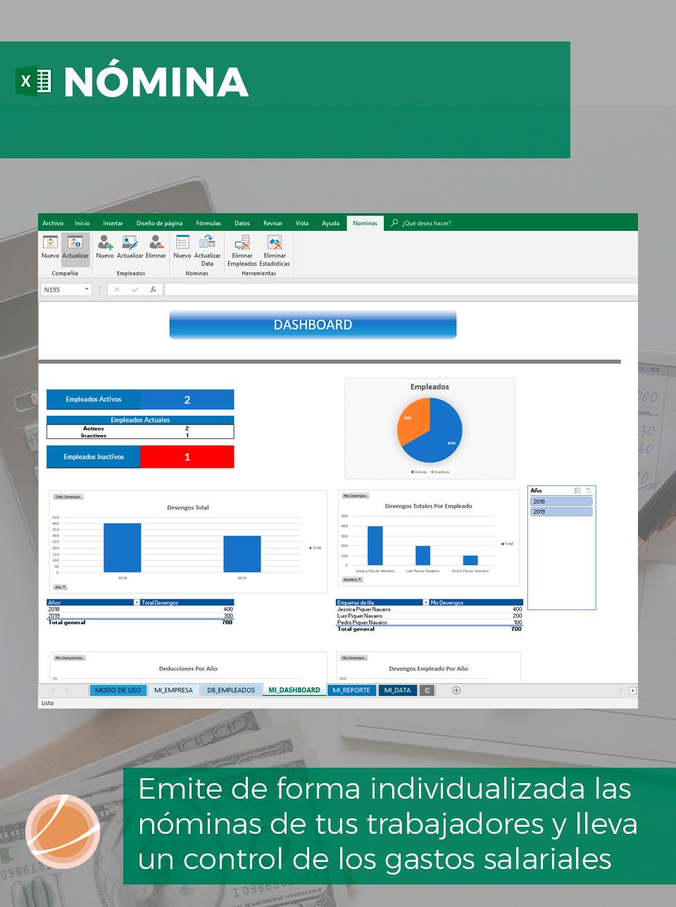 Plantilla Excel nómina
