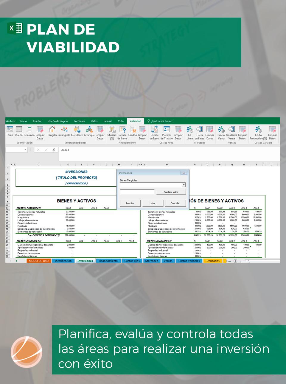 Plan económico de Excel