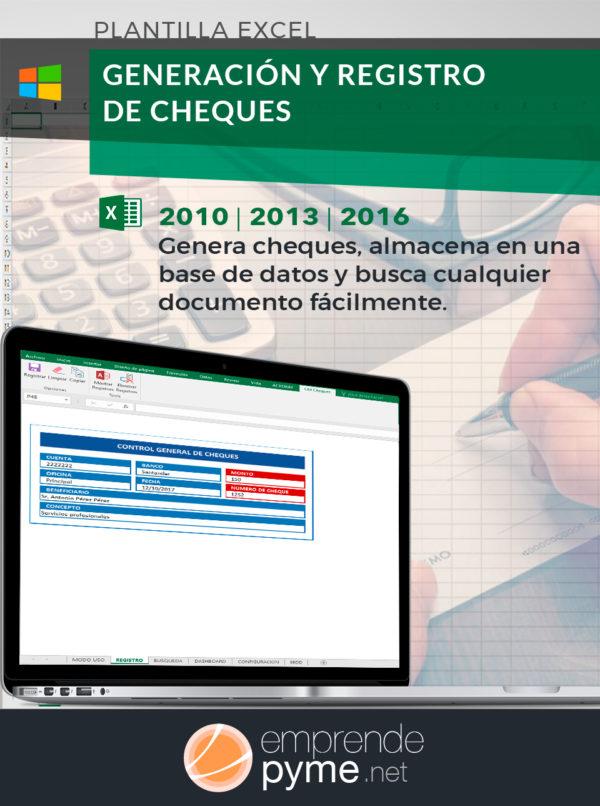 Plantilla Excel de cheques