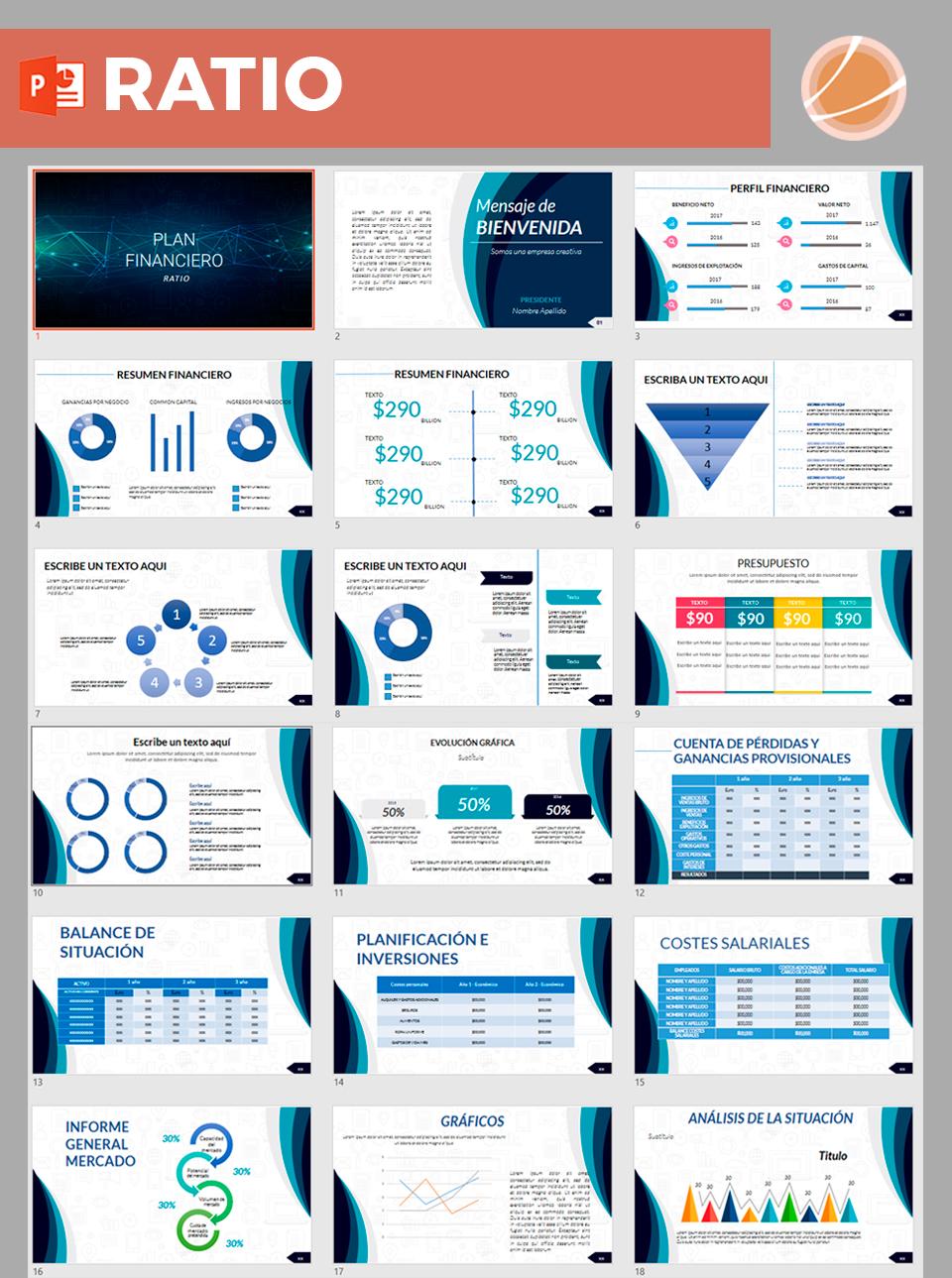 presentación datos financieros de empresa