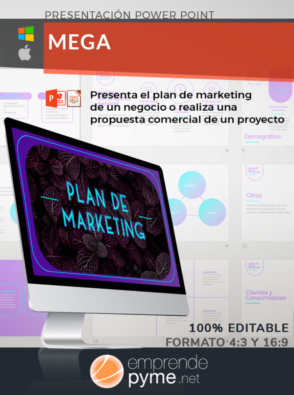plantilla plan de marketing power point
