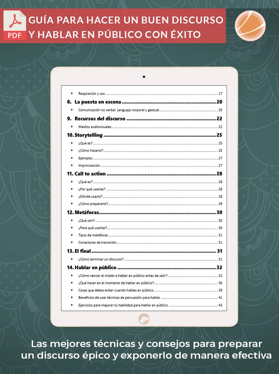 Ebook para mejorar tus discursos en público