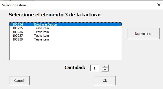 Plantilla de Excel con BBDD de clientes