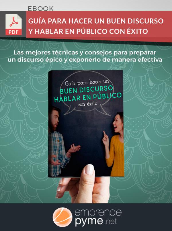 Ebook para elaborar un discurso paso a paso y exponerlo en público