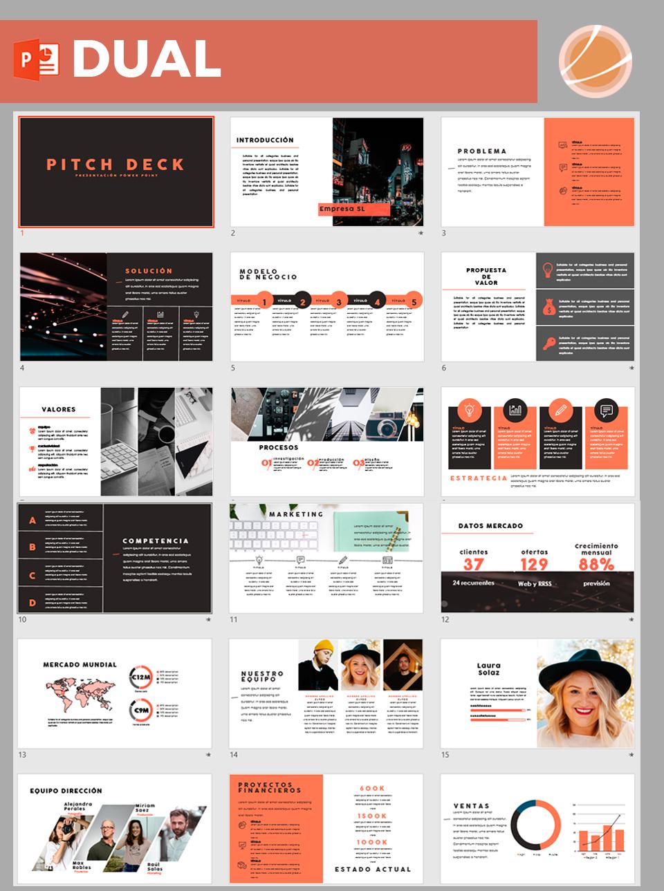 Presentación plan de negocio Pitch Deck