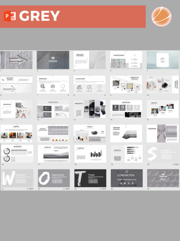 plantilla pitch deck power point para presentar un proyecto