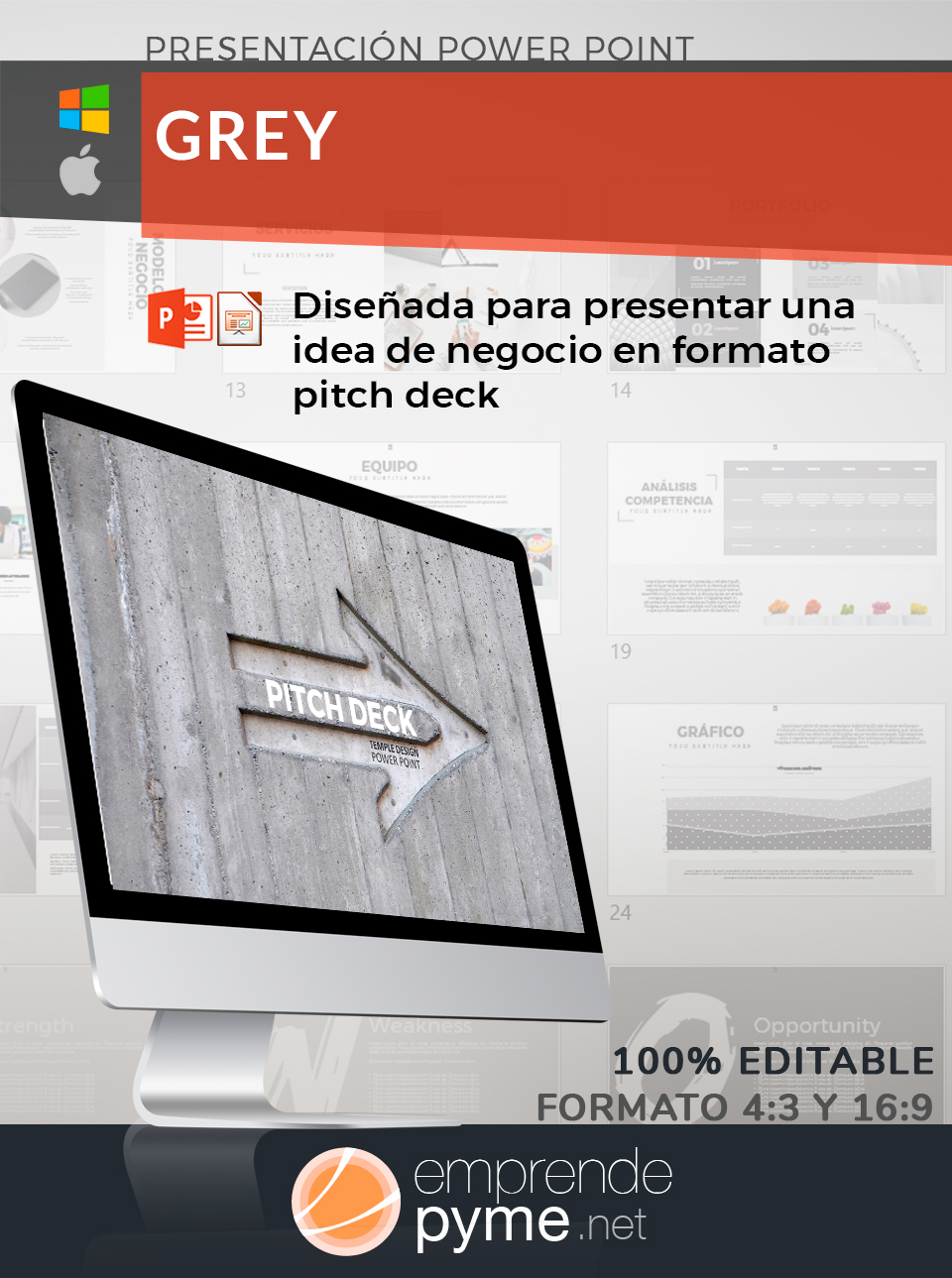 Hacer pitch deck en power point