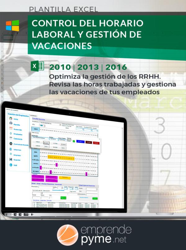 Gestión de vacaciones y jornada laboral en Excel