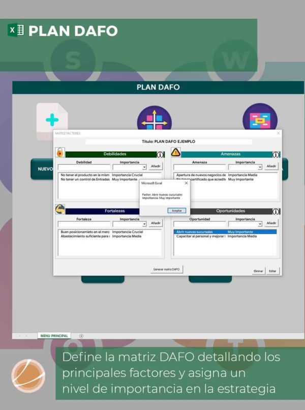 Análisis DAFO en Excel