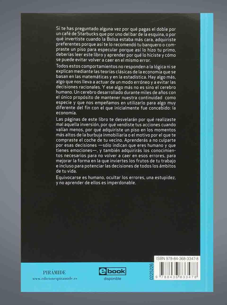 Resumen del libro el cerebro del inversor de Pedro Bermejo