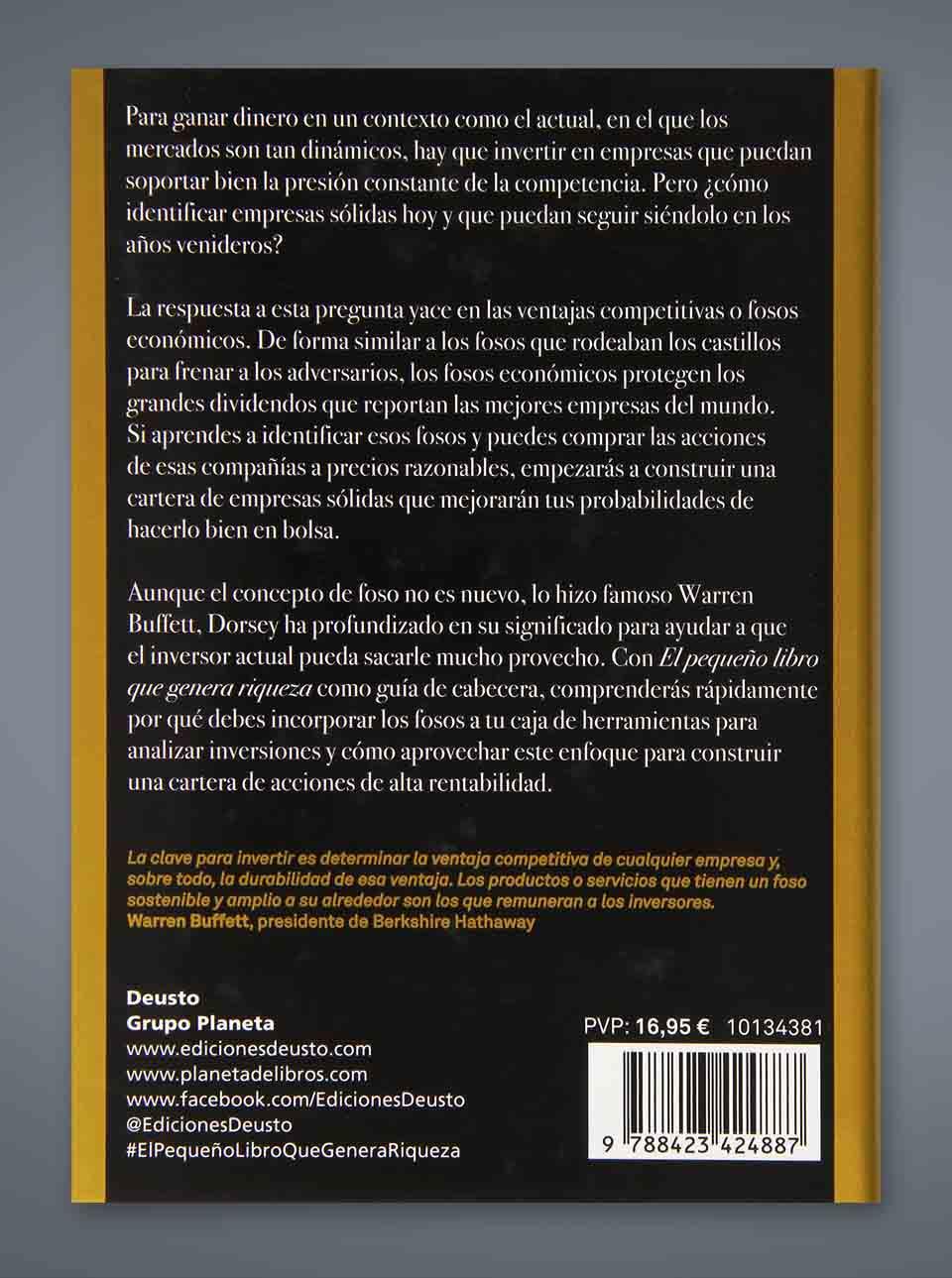 Argumento libro el pequeño libro que genera riqueza de Pat Dorsey